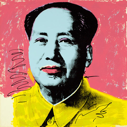 "Andy Warhol, ""Mao #91"" (1972) (Image via artradarjournal.com)"