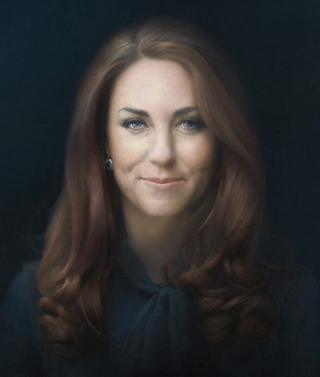 Catherine, Duchess of Cambridge, official portrait by artist Paul Emsley. Photograph: NPG/Rex Features