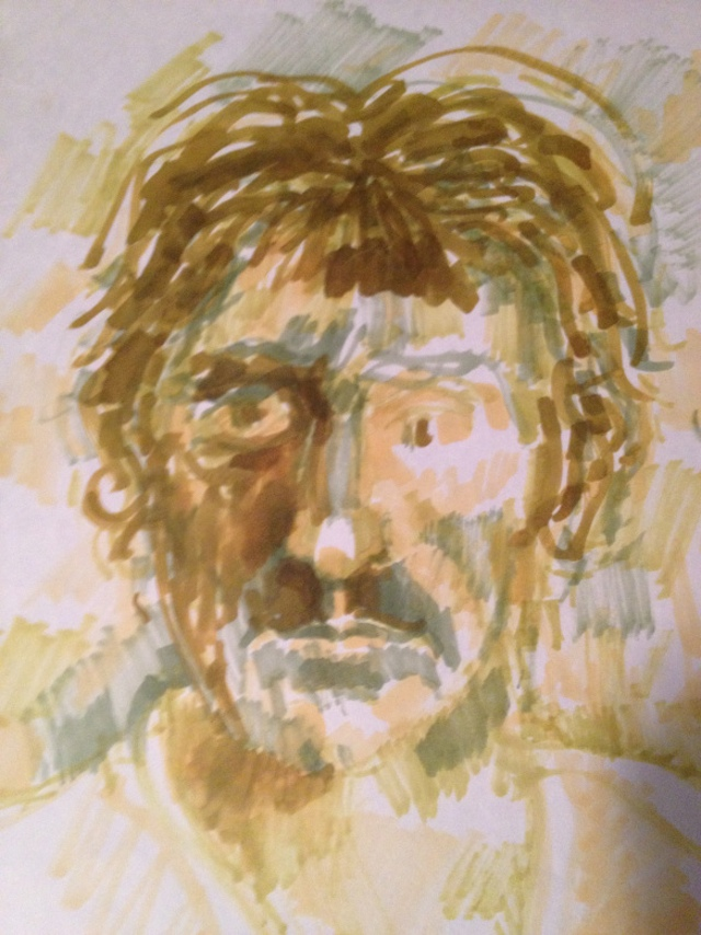 "Robert Corless, ""Eddie Johnson."" Drawing."