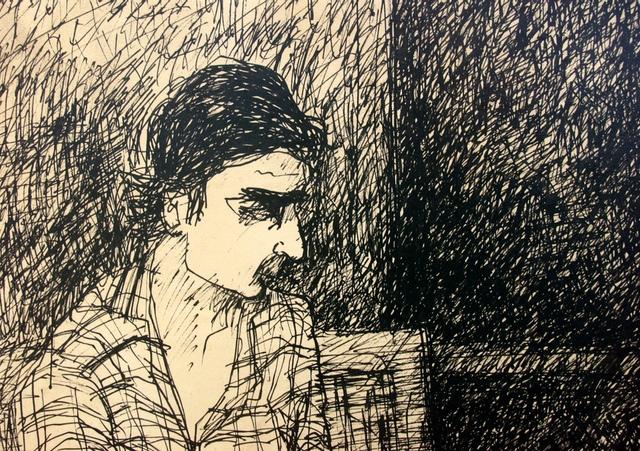 "Steve Polskie, ""Eddie Johnson"" (1963). Drawing."