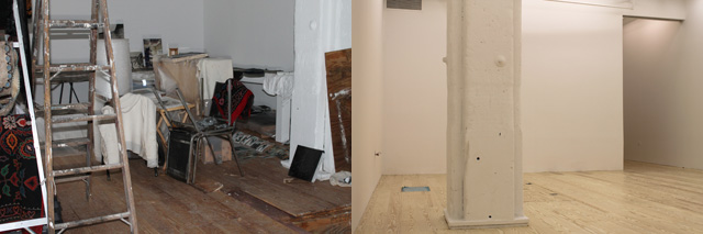 Winkleman Gallery, before and after Sandy cleanup (images via edwardwinkleman.com)