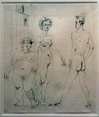 """Leo Steinberg, """"Untitled, 'Mr. Bul, 1950, 3 mins"""" (1953). 23 x 17 inches."""