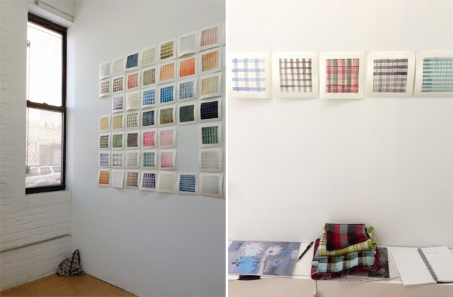 Two views of Michelle Forsyth's show at Auxiliary Projects.