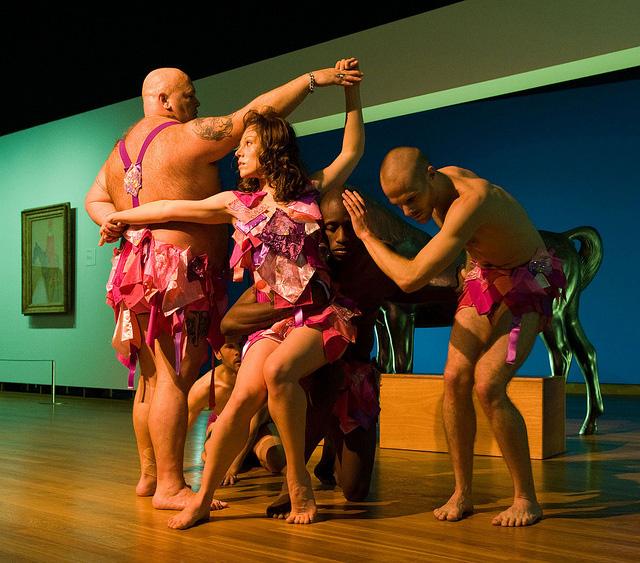 Dansgroep Amsterdam performing at the Van Gogh Museum (image via Flickr/Van Gogh Museum)
