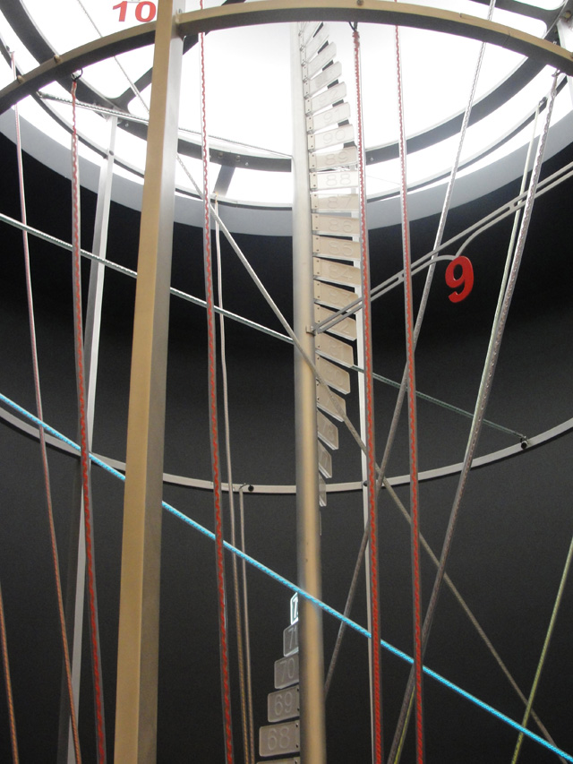 """""""String Product,"""" the museum's two-story calculator"""