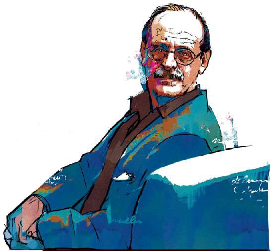 Emanuel Fucecchi, portrait of Antonio Tabucchi (image via Attente Disattenzioni)