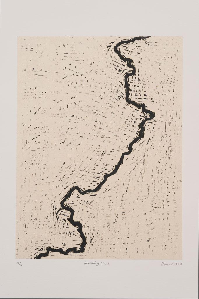 """Zarina, """"Dividing Line"""" (2001) (Image courtesy Guggenheim Museum)"""