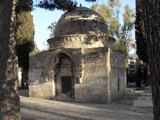 Mausoleum in Mamilla Cemetery (via Wikimedia)