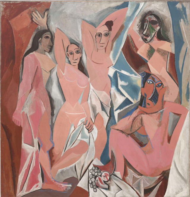 "Pablo Picasso, ""Les Demoiselles d'Avignon"" (via Wikimedia)"
