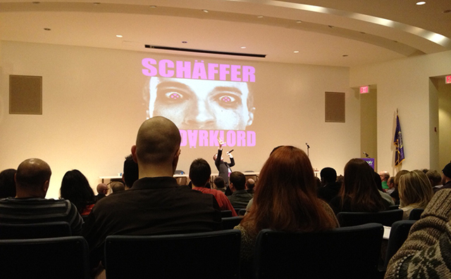 Darklord Schaefer at the NYGCC awards ceremony (Photo by author)