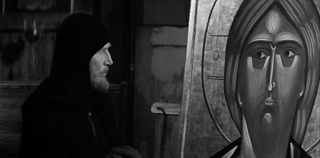 """Still from Andrei Tarkovsky's """"Andrei Rublev"""" (image via filmmisery.com)"""