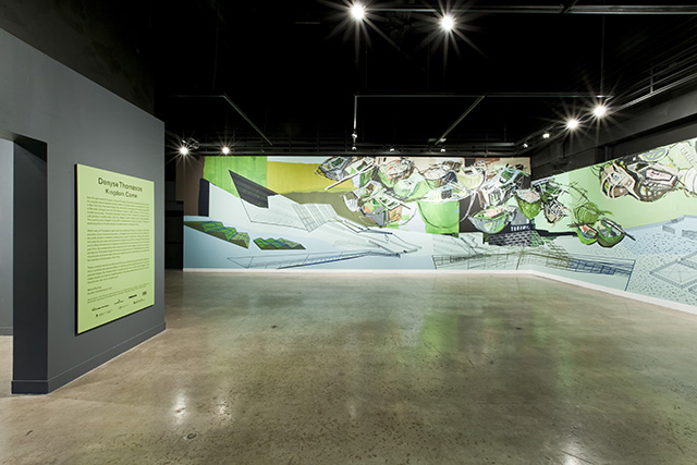 "Denyse Thomasos, ""Kingdom Come"" (2011), in situ wall painting at Oakville Galleries (Photo by Toni Hafkenscheid)"