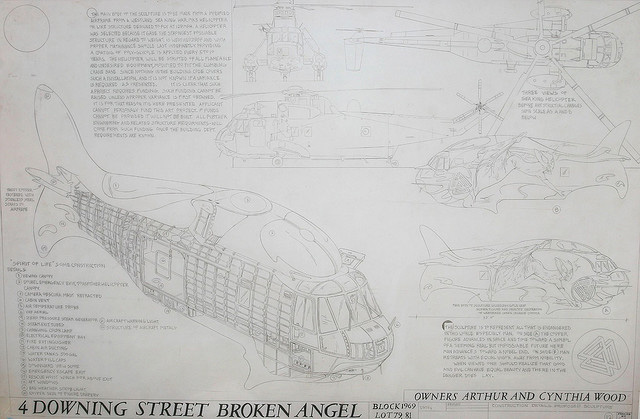 Plans for the helicopter inside the Broken Angel