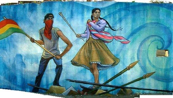 """Detail of """"La Lucha Por El Agua Continúa"""""""