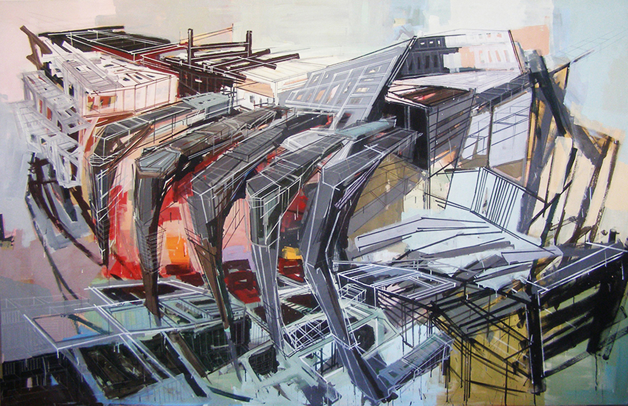"Denyse Thomasos, ""Metropolis"" (2007) (Image courtesy Olga Korper gallery)"