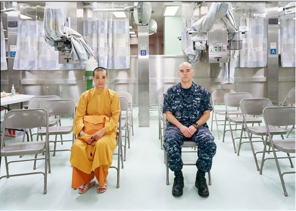 """An-My Lê, """"Patient Admission, US Naval Hospital Ship Mercy, Vietnam,"""" 2010, Archival pigment print. Courtesy of Murray Guy Gallery"""