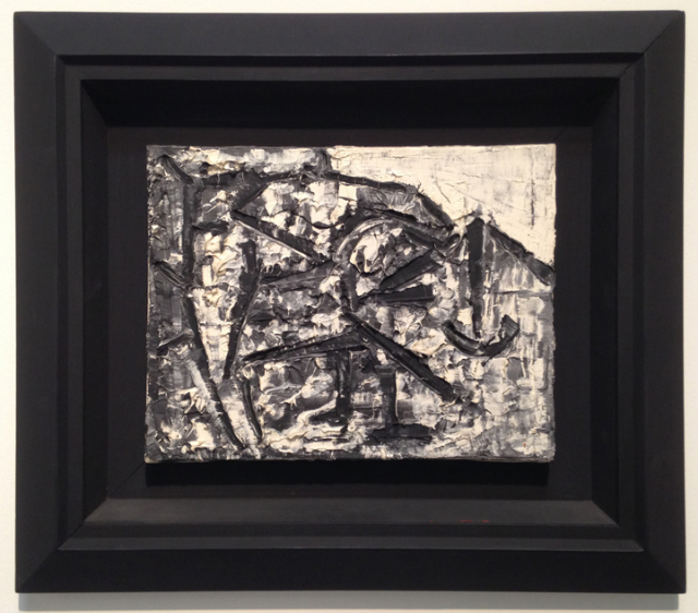 Jean-Paul Riopelle, Untitled (Iceberg series), 1977, Oil on canvas, 10 3/5 × 13 4/5 in., Oriol Galeria d'Art, Barcelona, Booth 406.