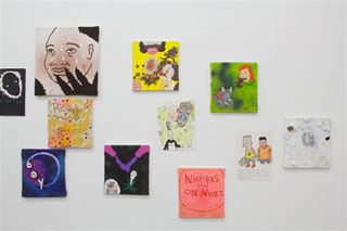 Installation view of works by David Leggett (click to enlarge)