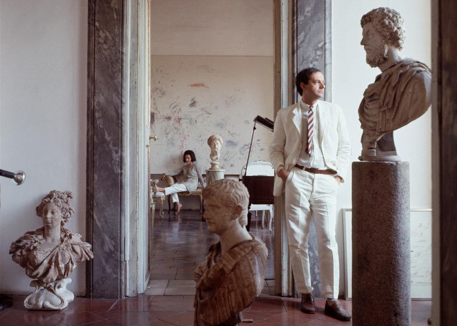 Cy Twombly in his Rome studio (Image via 032c.com / Vogue)