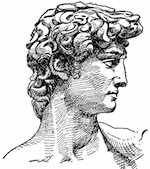 A lossy rendering of David, converted from GIF to JPG (Image via etc.usf.edu)