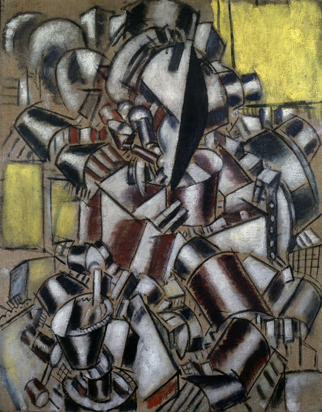 """Fernand Léger, """"Le fumeur (The Smoker)"""" (1914), oil on canvas, 39 ½ x 32 in. (101.1 x 81.2 cm), Leonard A. Lauder Cubist Collection; 2013 Artists Rights Society (ARS), New York/ADAGP, Paris"""