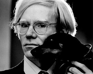 "Jack Mitchell, ""Andy Warhol, with Archie"" (1973) (via Wikipedia)"