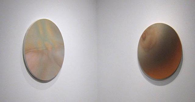 Installation view of work by Gwen Hardie at Garis & Hahn (photo by Susan Silas)