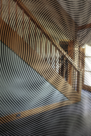 "Olafur Eliasson, ""Walk Through Wall Glass, Mirror, Wood"" (1989)"
