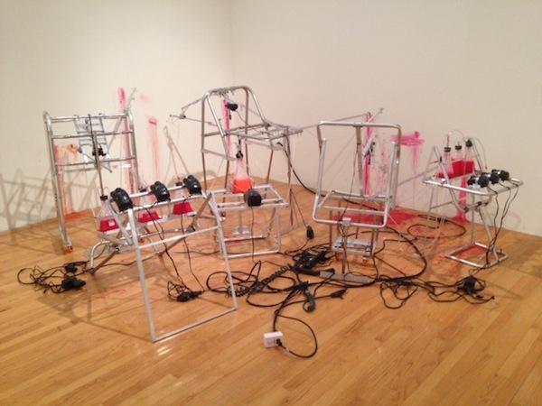 """Mark Porter, """"Autohaemorrhaging Actuator"""" (2013)"""