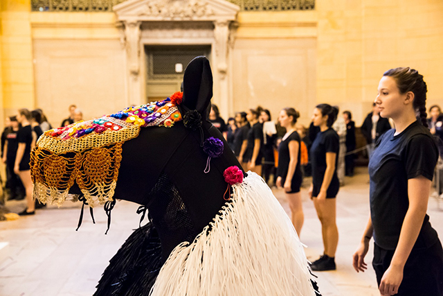 """Nick Cave's """"HEARD•NY"""" at Grand Central terminal (Photo by Travis Magee, courtesy Creative Time)"""