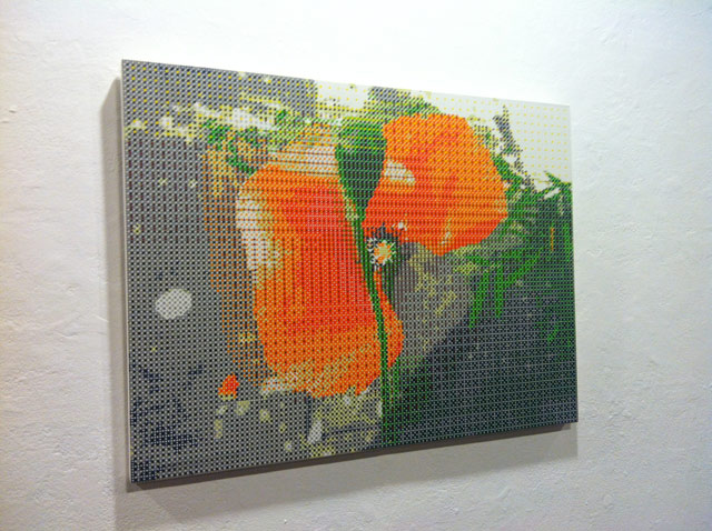 """Gabriel Orozco, """"Broken Red Flower"""" (2011)"""
