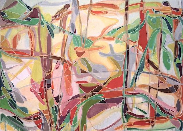 "Jennifer Riley, ""Wolfcreek Winter"" (2013). Oil on canvas, 60 x 84 inches."