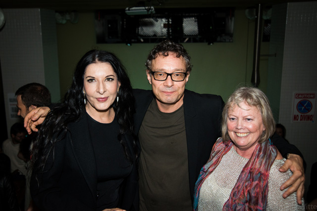 Artists Marina Abramović, Marco Brambilla, and curator Alana Heiss at After Hours. (photo by Nadia Witte for @TSqArts)