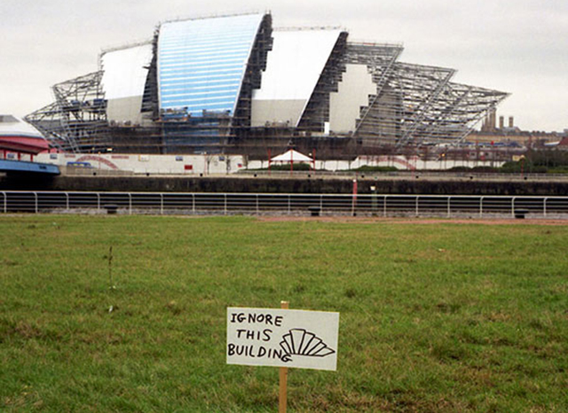 """David Shrigley, """"Ignore This Building"""" (Image via davidshrigley.com)"""