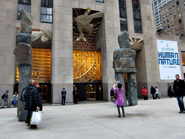 "Ugo Rondinone's ""Human Nature"" at Rockefeller Center"