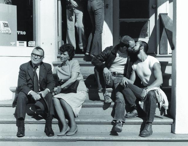 "Crawford Barton, ""A Castro Street Scene"" (1977), black and white photograph"