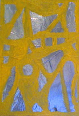 """Peter Acheson, """"Goddess"""" (2010), acrylic on foil on canvas, 11.25 x 8 inches"""