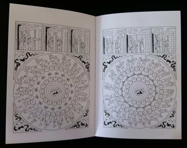 A spread from the book featuring drawings that can be turned into animated phen