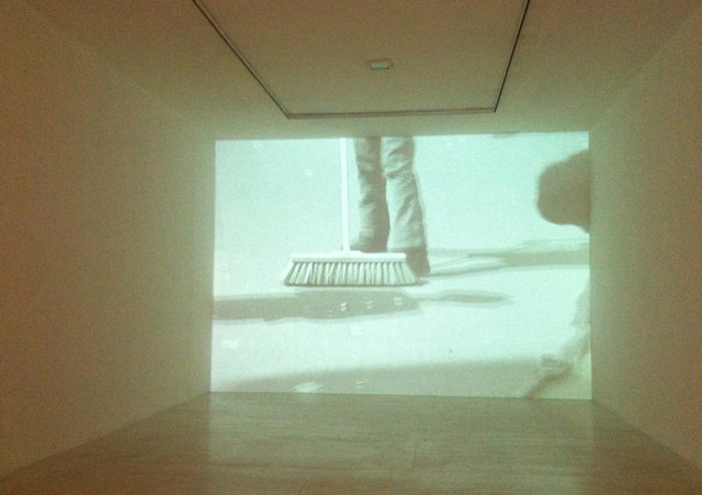 """Joseph Beuy, """"Sweeping Up"""" (1972), installation view at MoMA PS1"""