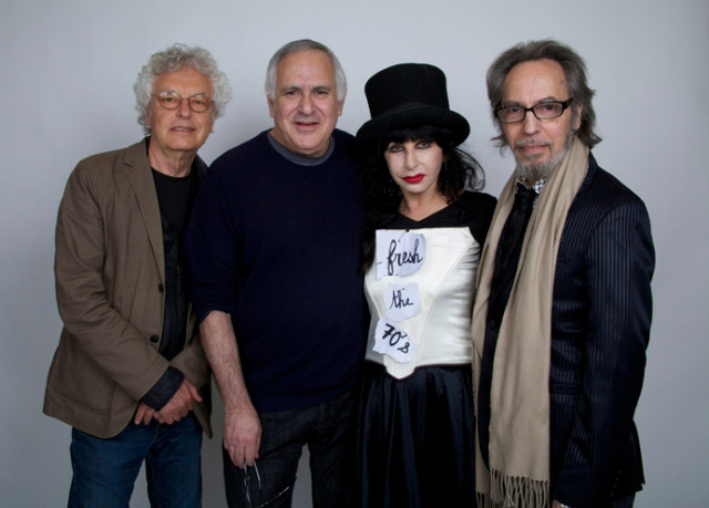"""The artists of """"Fresh Faces From The 1970s"""": (from left to right) Anton Perich, Marc H. Miller, Colette Lumiere and Neke Carson (Photo: Curt Hoppe)"""