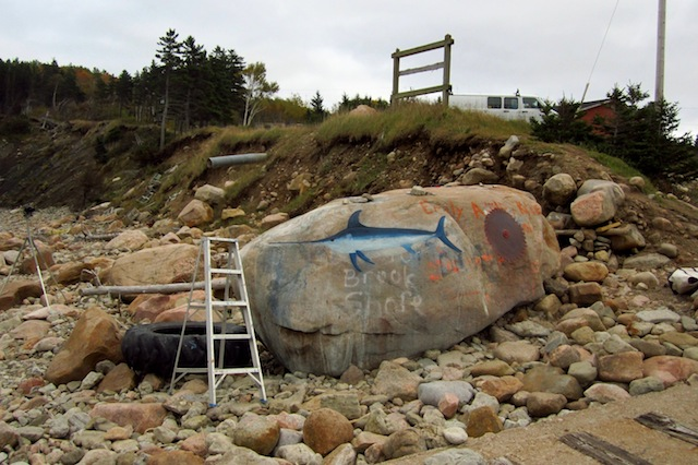 "Kevin Sudeith, ""Swordfish, Saw Blade, and Ladder, Smelt Brook Shore,"" Cape Breton, NS, Canada (2012) (all images courtesy the artist)"