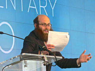 CEO/Zeega co-founder Jesse Shapins delivers a creative manifesto to the TFI Interactive audience (click to enlarge)