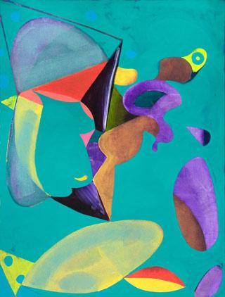 A painting by Lester Goldman (via lestergoldmanstudio.tumblr.com)
