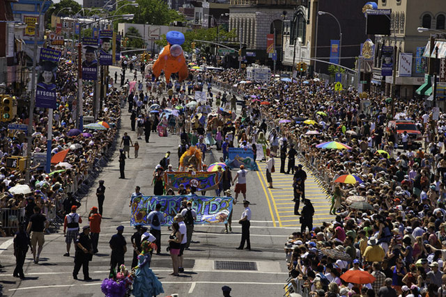 The crowds at last year's Mermaid Parade (via Kickstarter)