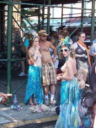 Seen at the Mermaid Parade (photo by the author for Hyperallergic)