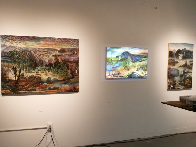 Installation view of Max Greis's Hunter College studio (all photos by author)
