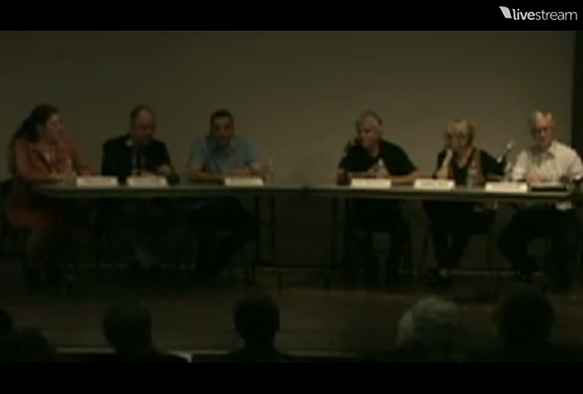 Don Blauweiss speaks at the Alumni Council's event on Monday evening (LiveStream screenshot)