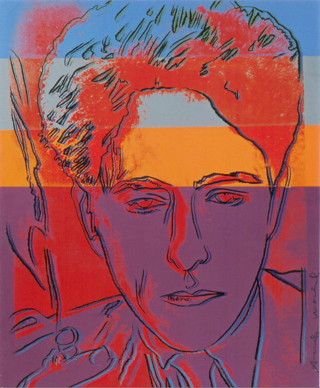 """Andy Warhol, """"Jean Cocteau red portrait"""" (1983), silkscreen, 80 x 97 cm (click to enlarge) (© Comité Cocteau, © The Jean Cocteau House Collection, Milly-La-Forêt)"""