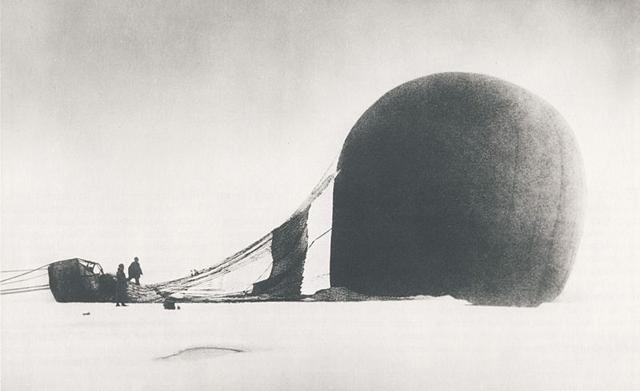 Andrée expedition balloon crash (via Wikimedia)