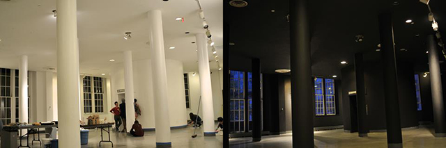 School of Architecture students painted their lobby black on Sunday
